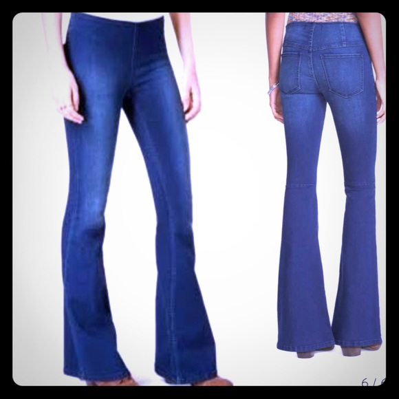 select for newest huge range of shop for genuine Free People Penny Pull On Flare Denim Jeans